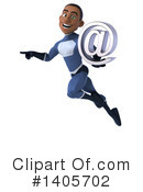 Black Male Dark Blue Super Hero Clipart #1405702 by Julos