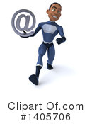 Black Male Dark Blue Super Hero Clipart #1405706 by Julos