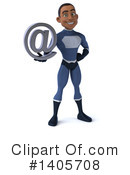 Black Male Dark Blue Super Hero Clipart #1405708 by Julos