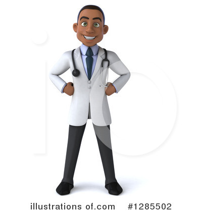 Young Black Male Doctor Clipart #1285502 by Julos