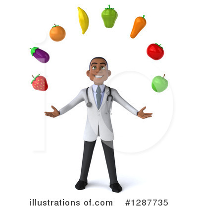 Young Black Male Doctor Clipart #1287735 by Julos