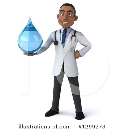 Young Black Male Doctor Clipart #1299273 by Julos