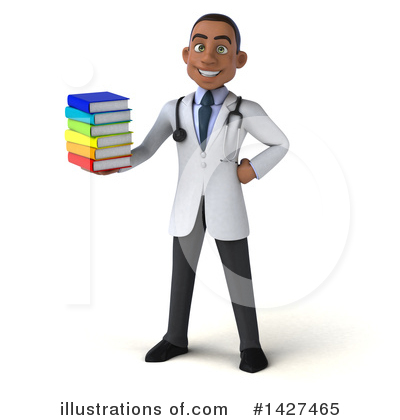 Young Black Male Doctor Clipart #1427465 by Julos