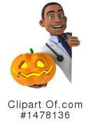 Black Male Doctor Clipart #1478136 by Julos