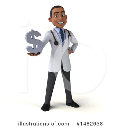 Young Black Male Doctor Clipart #1482658 by Julos