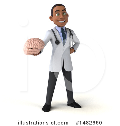 Young Black Male Doctor Clipart #1482660 by Julos