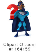 Royalty-Free (RF) Black Super Hero Clipart Illustration #1164159