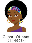 Royalty-Free (RF) Black Woman Clipart Illustration #1146084