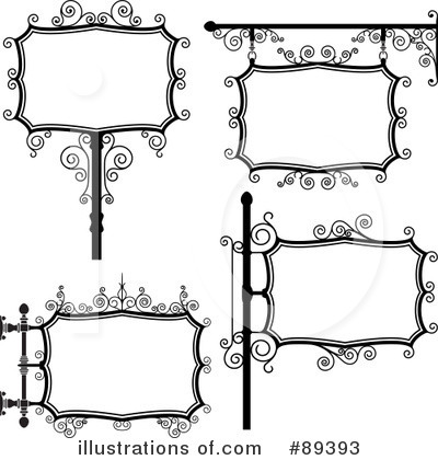 Wrought Iron Sign Clipart #89393 by Frisko