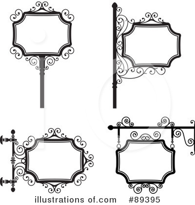 Wrought Iron Sign Clipart #89395 by Frisko