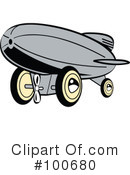 Royalty-Free (RF) blimp Clipart Illustration #100680