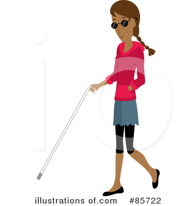 Royalty-Free (RF) Blind Clipart Illustration by Rosie Piter - Stock Sample #85722
