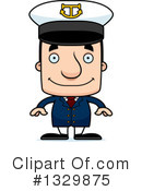 Royalty-Free (RF) Block Head White Man Clipart Illustration #1329875