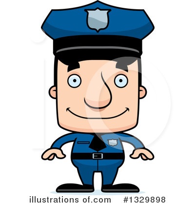Police Man Clipart #1329898 by Cory Thoman