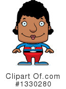 Block Headed Black Woman Clipart #1330280 by Cory Thoman