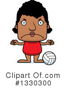 Block Headed Black Woman Clipart #1330300