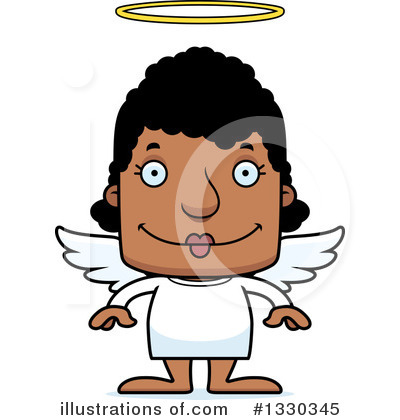 Block Headed Black Woman Clipart #1330345 by Cory Thoman