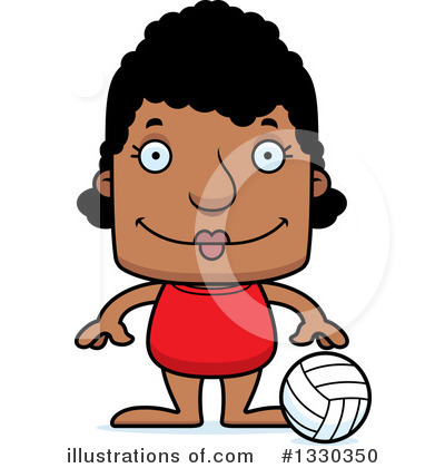 Block Headed Black Woman Clipart #1330350 by Cory Thoman