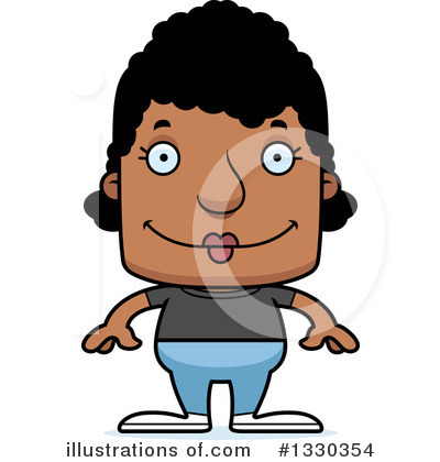 Block Headed Black Woman Clipart #1330354 by Cory Thoman