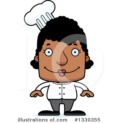 Block Headed Black Woman Clipart #1330355 by Cory Thoman