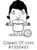 Block Headed Black Woman Clipart #1330401