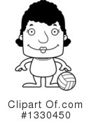 Block Headed Black Woman Clipart #1330450
