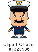 Royalty-Free (RF) Block Headed Hispanic Man Clipart Illustration #1329936