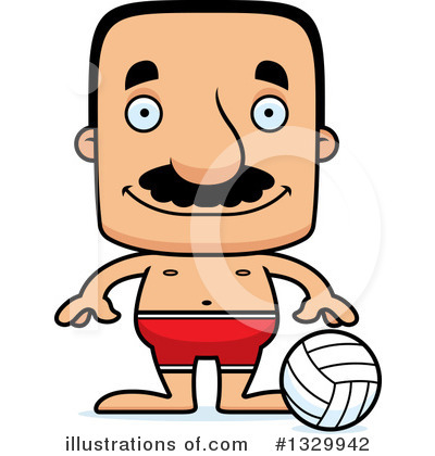 Block Headed Hispanic Man Clipart #1329942 by Cory Thoman
