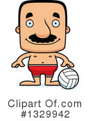 Block Headed Hispanic Man Clipart #1329942