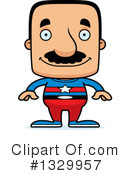 Block Headed Hispanic Man Clipart #1329957 by Cory Thoman