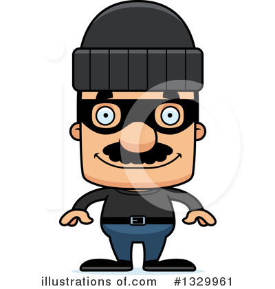 Block Headed Hispanic Man Clipart #1329961 by Cory Thoman