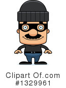 Block Headed Hispanic Man Clipart #1329961