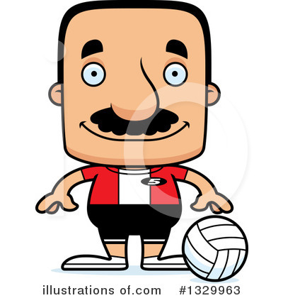 Block Headed Hispanic Man Clipart #1329963 by Cory Thoman