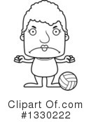 Block Headed Senior Woman Clipart #1330222