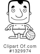 Block Headed White Man Clipart #1329974