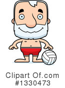 Block Headed White Senior Man Clipart #1330473