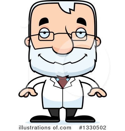 Block Headed White Senior Man Clipart #1330502 by Cory Thoman