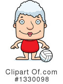 Block Headed White Senior Woman Clipart #1330098
