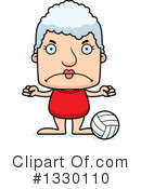 Block Headed White Senior Woman Clipart #1330110