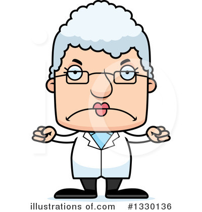 Block Headed White Senior Woman Clipart #1330136 by Cory Thoman