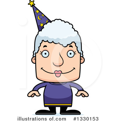 Block Headed White Senior Woman Clipart #1330153 by Cory Thoman