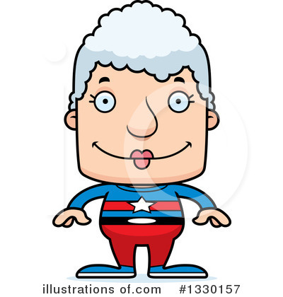 Block Headed White Senior Woman Clipart #1330157 by Cory Thoman