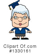 Block Headed White Senior Woman Clipart #1330161 by Cory Thoman