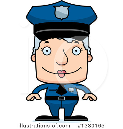 Police Man Clipart #1330165 by Cory Thoman