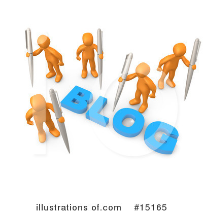 Royalty-Free (RF) Blog Clipart Illustration by 3poD - Stock Sample #15165