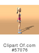 Blond Fitness Woman Character Clipart #57076