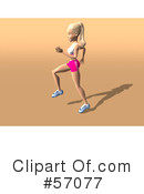 Blond Fitness Woman Character Clipart #57077