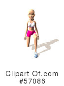 Blond Fitness Woman Character Clipart #57086
