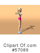 Blond Fitness Woman Character Clipart #57089