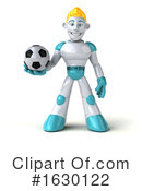 Blond Robot Clipart #1630122 by Julos
